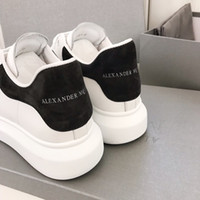 Wholesale solid colored shoes resale online - 2020 Og Classic platform sneakers White leather black colored tail straps for comfor running shoes top quality luxury brands casual shoes