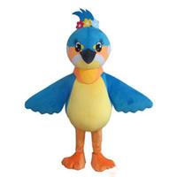 ingrosso costume della mascotte dell'uccello adulto-2018 vendita calda Lovly Blue Bird costume della mascotte di Carnevale Festival Party Dress Outfit per adulti
