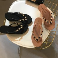 Wholesale button drill resale online - Alluring2019 Clothes Other All match Bright Drill Sandy Beach Slope Toe Leisure Time Flip Flops High With Sandals Dr02