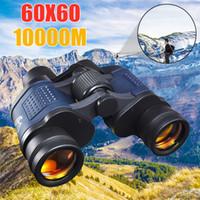 visiones ópticas al por mayor-Telescopio 60X60 HD Binoculares de alta claridad 10000 M Alta potencia para caza al aire libre Óptica Vista nocturna binocular zoom fijo