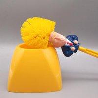 baño inodoro portaescobillas cepillo al por mayor-Creativo Donald Trump cepillo de baño Suministros Los titulares del sistema de cepillo Wc original del papel higiénico baño Accesorios de limpieza de la personalidad