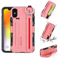 Wholesale wrist wallet case resale online - Wrist Strap Cover Phone Case for iPhone XS Max XR Plus Samsung S10e S10 Lite S9 S8 Note Hybrid Layer Card Holder Wallet Style