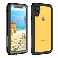 Wholesale case factory iphone for sale – best Original factory For iPhone XR Waterproof Case Shock Dirt Snow Proof Protection With Touch ID For iPhoneXr Case Life Water Cover Skin Black