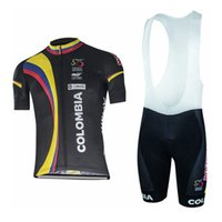 Wholesale bike jerseys kits online - New colombia men Cycling Jersey Set Maillot Ciclismo Short Sleeve Summer Quick Dry MTB Bike Clothing racing sports Kits Y022015