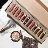 Wholesale lip stick mini resale online - Classics Snow Ball Lipstick Kit matten lip stick Christmas limited Mini lipstick vault gift box set