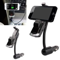 Wholesale car phone holder mp3 for sale - Group buy BT8118 Bluetooth FM Transmitter Car Charger Kit Cell Phone Holder Handsfree LED Display U Disk MP3 Play AUX Audio Input Separate Power