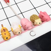 Wholesale data line iphone for sale – best Lovely Cartoon Animal Cable Protector Data Line Cord Protector Protective Case Cable Winder Cover For iPhone USB Charging Cable