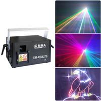 disko tarayıcıları toptan satış-5 Watt RGB lazer 3D animasyon tarayıcı projektör ILDA DMX dans bar Noel Partisi Disco DJ etkisi Işık sahne Işıkları Gösterisi sistemi