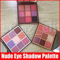 açık göz farı toptan satış-Yeni Göz Makyajı 9 Renkler Nü Göz Farı Paleti Mat Işıltılı Göz Gölgeler Paletler Hafif Orta Rich 3 Styles Preslenmiş