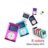 Wholesale mini clip metal mp3 player for sale - Mini USB Metal Clip Music MP3 Player LCD Screen MP3 Player With FM Support GB Micro SD TF Card Slot