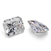 suministros de diamantes sueltos al por mayor-piedra de diamante moissanite joyas de alimentación de alta calidad VVSclarity DEF 3ct blanco 7.5x8.5mm radiante corte suelta sintética