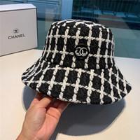 Wholesale wool bucket hats women resale online - Brand Cotton Bucket Hat For Men and Women Hot Designer Foldable Caps Black Fisherman Beach Sun Hats Folding Man casquette Bowler Street Cap