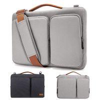 dizüstü bilgisayar çantaları toptan satış-MacBook Air 13-15,6 inç Ekran 13 MacBook Pro, USB-C, su geçirmez Darbeye Notebook Sleeve için Laptop Omuz Çantası