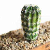 ingrosso falsi piani per ufficio-Decorazione Ufficio Fai da te Paesaggio Camera da letto Piante artificiali Cactus finto Simulazione Succulente Delicato Diverso Fico d'India Giardino