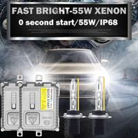 12v фара переменного тока оптовых-AC 12V 55w быстрый яркий ксенон h1 h3 h7 h11 HB4 HB3 9012 спрятался HeadLight H8 H9 9005 9006 5500K