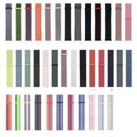 relógio a cores de 38 mm venda por atacado-Cinta de nylon Para a faixa de relógio da Apple 4 3 2 Pulseiras Esportivas ajustável respirável watchBand Dual Cor 40mm 44mm 38mm / 42mm