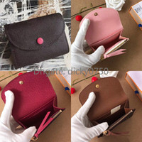 Wholesale vintage pink clutch for sale - Group buy classic Coin Purses short clutch wallet Fashion coin purse women short wallet for women classic business card holder lady
