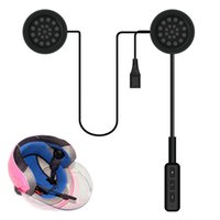 Wholesale motorcycle helmet bluetooth earphone resale online - Motorcycle Bluetooth Helmet Headphones Callable Auto Answer CSR Solution Headset Bluetooth Earphone Black Universal Accessories DHL