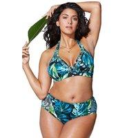 c8f4342880e8 Plus Size Bikini Set For Women Biquini Vita alta Push Up Big Size Costume  da bagno Swimwear Large Bikini 2019 Costume donna 4XL