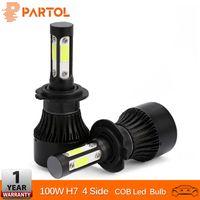 Wholesale led lights car set resale online - Partol Sides COB Chips H7 Car LED Headlight Bulbs W set lm Auto Headlamp LED Light v v for