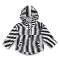 Wholesale short paragraph clothes for sale - Group buy Baby Striped Hooded Outwear Children Designer Girls Clothes Short Paragraph Long Sleeve Hood Fine Vertical Stripes Leisure Jacket Chemical