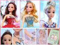 boneca de casamento mini venda por atacado-Novo 2019 Casamento Barbie Super Grande Artesanal Decoração Dança Escola Escola Boneca Presente Toy Set Lote