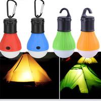 mobilya lambaları toptan satış-Mini Taşınabilir Fener Çadır Işık LED Ampul Acil Lamba Kamp Mobilya Aksesuarları Için Su Geçirmez Asılı Kanca Fener