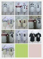 Wholesale blank baseball jerseys black white for sale - Group buy Cheap White Sox Blank EATON FOX BAINES APPLING JACKSON Cream White Grey Black Baseball Jerseys Shirt Stitched Top Quality