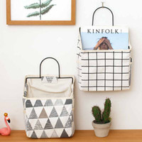 Wholesale beds bedding for sale - Group buy Linen Storage Bag Cactus Lattice Hanging Bags Wall Mounted Book Impurity Pouch Hot Sale Wear Resistant qj UU