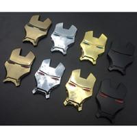 ingrosso 3d adesivo auto cromato-3D adesivi in metallo cromato Iron Man auto emblema decorazione The Avengers Car Styling decalcomanie accessori esterni