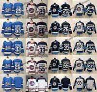 maillots de hockey d'héritage achat en gros de-Winnipeg Blue Jets de remplacement 2019 55 Mark Scheifele 29 Patrik Laine 26 Blake Wheeler 33 Maillot de Hockey Dustin Byfuglien Heritage S-XXXL