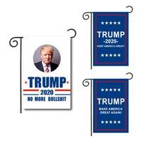 drapeaux de jardin gratuits achat en gros de-30 * 45CM Trump Garden Flags Président Élection Générale Bannière Vacances double face Bannière Drapeaux Jardin Décorations livraison gratuite