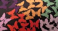 décorations de fête papillon bébé achat en gros de-CHOISISSEZ vos couleurs. Variété papillon Confetti / Scrapbook Cut Out mariage anniversaire mariage nuptiale fête de la douche table Decor scrapbooking