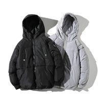 Veste d hiver d hommes Puffer à capuchon chaud pour hommes coréenne Vestes Parka coton solide Chic en vrac Liner Vestes Tide Manteaux