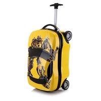 spielzeugboxen großhandel-18inch Kinder Koffer 3D Car Gepäck für Kinder Reise-Koffer-Set Räder Kinderschultaschen Spielzeug Roll Aufbewahrungsbox