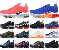 Wholesale cool sports tables for sale - Group buy 2019 TN Plus running shoes for men women sneakers PURE PLATINUM triple black white air cool wolf grey mens trainers designer sports shoe