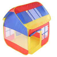 Wholesale yarn toys resale online - Three Color Play Tent Portable Foldable Quadrangle House Child Indoor Camping Tent Net Yarn Kid House Kids Gifts Outdoor Toys
