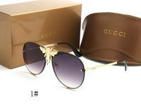 пчелиные очки оптовых-Марка Популярные модные солнцезащитные очки для женщин 2238 большая пчела дизайн стиль женщины мужчины унисекс солнцезащитные очки вождения очки тени galsses
