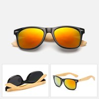 Wholesale bamboo protection online - Bamboo Wood Sunglass Fashion Mens Women Vintage Sunglasses Full Frame Radiation Protection Summer Outdoor Sunglasses Unisex A32801