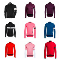 Wholesale cycling jerseys men long sleeve resale online - RAPHA custom made Cycling long Sleeves jersey Spring and Autumn Men s Outdoor Sports Windproof Breathable Jersey S51116