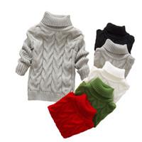 suéter del suéter del niño al por mayor-Otoño invierno Suéter Top Bebé Ropa para niños Niños Niñas Jersey de punto Niño suéter Niños Ropa de primavera 2 3 4 6 años