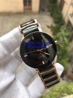 37мм часы мужчин оптовых-Унисекс роскошные часы Леди известный бренд современные мужские Qaurtz мода черный керамические часы дамы повседневная дизайнер Мужские спортивные часы 37 мм