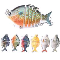 Wholesale pike lures for sale - Group buy 6 cm g Wobblers Pike Fishing Lures Artificial Multi Jointed Sections Artificial Hard Bait Trolling Pike Carp Fishing Tools
