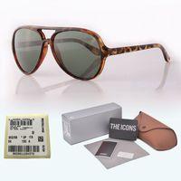 eyewear scharniert groihandel-Neue Ankunft Markendesigner-klassische Sonnenbrille Mann-Frauenplankenrahmen Metallscharnier-Glaslinse Retro Eyewear mit freien Fällen und Aufkleber