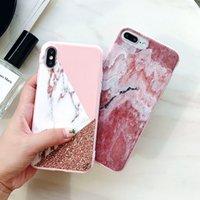 iphone belles couvertures achat en gros de-Designer de luxe 3D Marbre Rose Or Couverture de téléphone pour IPhone X XS MAX XR 7 6 6 s 8 Plus I Téléphone 8plus 7plus Belle Silicon Cases Coque