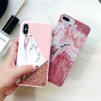 güzel telefon kapakları toptan satış-Lüks Tasarımcı 3D Mermer Gül Altın Telefon Kılıfı iphone için X XS MAX XR 7 6 6 s 8 Artı I Telefon 8 artı 7 artı Güzel Silikon Kılıflar Coque