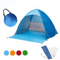 камуфляж летние палатки оптовых-11 Цвета Автоматическая Палатка Портативный Бесплатно Построить Кемпинг Пляж Зонтик Солнцезащитный Крем Скорость Палатки Открытый Открытый Палатка Для 2-3 Человек DS0536CY