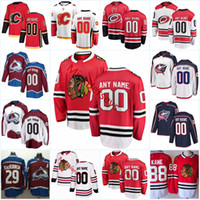 ingrosso giacche blackhawks-Mens Custom Chicago Blackhawks Jersey Calgary Flames Carolina Hurricanes Colorado Avalanche Columbus Blue Jackets Maglie da hockey