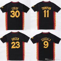 çin mayo ücretsiz kargo toptan satış-Toptan Çin # 11 KT Jersey # 23 DG Jersey Dikişli Basketbol Jersey Gömlek Ücretsiz Kargo Ncaa Koleji