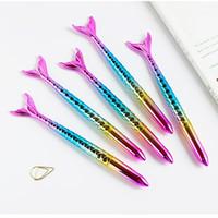 kawaii moda kırtasiye toptan satış-Kawaii tükenmez kalem denizkızı deniz hizmetçi kalem sevimli okul ofis yazma malzemeleri moda kızlar hediye kore kırtasiye